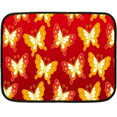 Butterfly Gold Red Yellow Animals Fly Fleece Blanket (mini)