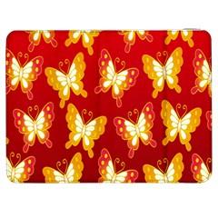 Butterfly Gold Red Yellow Animals Fly Samsung Galaxy Tab 7  P1000 Flip Case