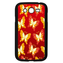 Butterfly Gold Red Yellow Animals Fly Samsung Galaxy Grand Duos I9082 Case (black)