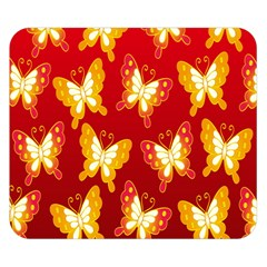 Butterfly Gold Red Yellow Animals Fly Double Sided Flano Blanket (small)