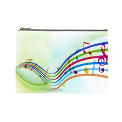 Color Musical Note Waves Cosmetic Bag (large)  by Alisyart