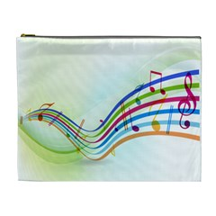 Color Musical Note Waves Cosmetic Bag (xl)