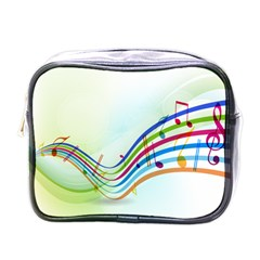 Color Musical Note Waves Mini Toiletries Bags by Alisyart