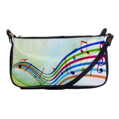 Color Musical Note Waves Shoulder Clutch Bags by Alisyart