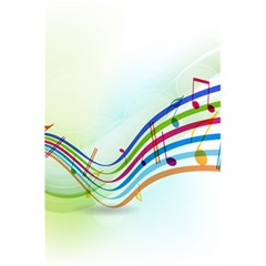 Color Musical Note Waves 5 5  X 8 5  Notebooks by Alisyart