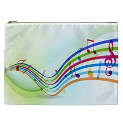 Color Musical Note Waves Cosmetic Bag (xxl)