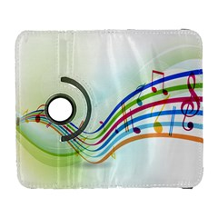 Color Musical Note Waves Galaxy S3 (flip/folio) by Alisyart
