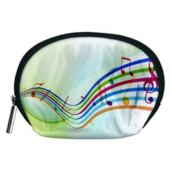 Color Musical Note Waves Accessory Pouches (medium)