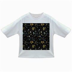 Floral And Butterfly Black Spring Infant/toddler T Shirts