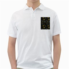Floral And Butterfly Black Spring Golf Shirts