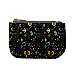 Floral And Butterfly Black Spring Mini Coin Purses