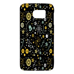 Floral And Butterfly Black Spring Galaxy S6