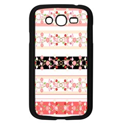 Flower Arrangements Season Floral Rose Pink Black Samsung Galaxy Grand Duos I9082 Case (black)