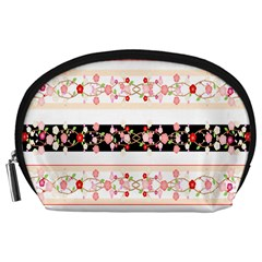 Flower Arrangements Season Floral Rose Pink Black Accessory Pouches (large)
