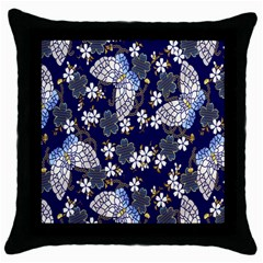 Butterfly Iron Chains Blue Purple Animals White Fly Floral Flower Throw Pillow Case (black) by Alisyart