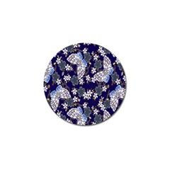 Butterfly Iron Chains Blue Purple Animals White Fly Floral Flower Golf Ball Marker (10 Pack) by Alisyart