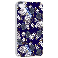 Butterfly Iron Chains Blue Purple Animals White Fly Floral Flower Apple Iphone 4/4s Seamless Case (white) by Alisyart