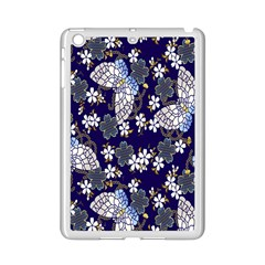 Butterfly Iron Chains Blue Purple Animals White Fly Floral Flower Ipad Mini 2 Enamel Coated Cases
