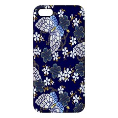 Butterfly Iron Chains Blue Purple Animals White Fly Floral Flower Apple Iphone 5 Premium Hardshell Case by Alisyart