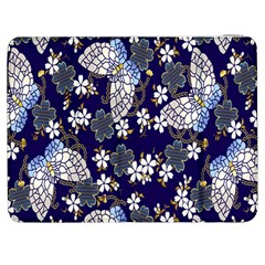 Butterfly Iron Chains Blue Purple Animals White Fly Floral Flower Samsung Galaxy Tab 7  P1000 Flip Case