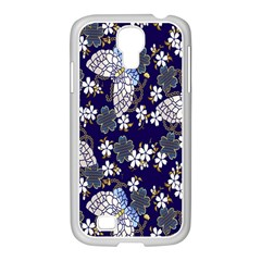 Butterfly Iron Chains Blue Purple Animals White Fly Floral Flower Samsung Galaxy S4 I9500/ I9505 Case (white) by Alisyart