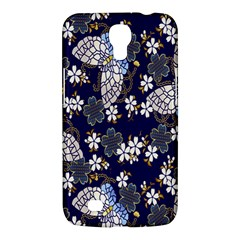 Butterfly Iron Chains Blue Purple Animals White Fly Floral Flower Samsung Galaxy Mega 6 3  I9200 Hardshell Case