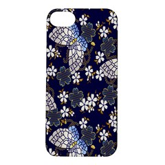 Butterfly Iron Chains Blue Purple Animals White Fly Floral Flower Apple Iphone 5s/ Se Hardshell Case