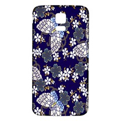 Butterfly Iron Chains Blue Purple Animals White Fly Floral Flower Samsung Galaxy S5 Back Case (white) by Alisyart