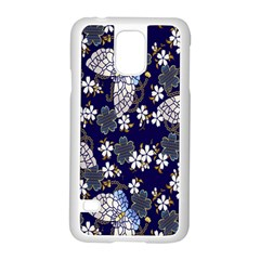 Butterfly Iron Chains Blue Purple Animals White Fly Floral Flower Samsung Galaxy S5 Case (white)