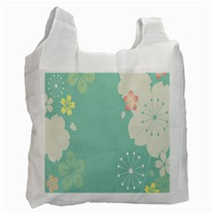 Flower Blue Pink Yellow Recycle Bag (one Side) by Alisyart