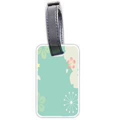 Flower Blue Pink Yellow Luggage Tags (one Side)