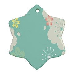 Flower Blue Pink Yellow Ornament (snowflake)