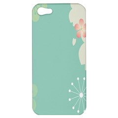 Flower Blue Pink Yellow Apple Iphone 5 Hardshell Case by Alisyart