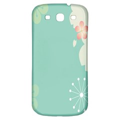 Flower Blue Pink Yellow Samsung Galaxy S3 S Iii Classic Hardshell Back Case