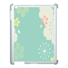 Flower Blue Pink Yellow Apple Ipad 3/4 Case (white)