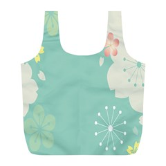 Flower Blue Pink Yellow Full Print Recycle Bags (l)  by Alisyart
