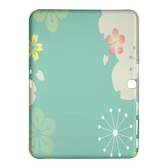 Flower Blue Pink Yellow Samsung Galaxy Tab 4 (10 1 ) Hardshell Case