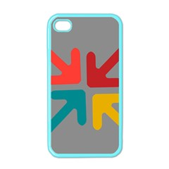 Arrows Center Inside Middle Apple Iphone 4 Case (color) by Amaryn4rt