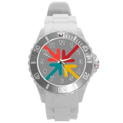 Arrows Center Inside Middle Round Plastic Sport Watch (l)