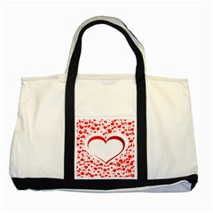 Love Red Hearth Two Tone Tote Bag by Amaryn4rt