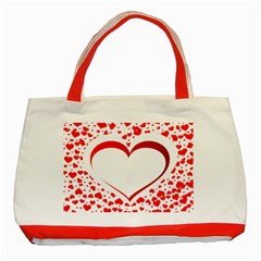 Love Red Hearth Classic Tote Bag (red) by Amaryn4rt