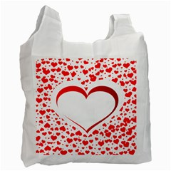Love Red Hearth Recycle Bag (two Side)  by Amaryn4rt