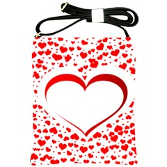 Love Red Hearth Shoulder Sling Bags by Amaryn4rt