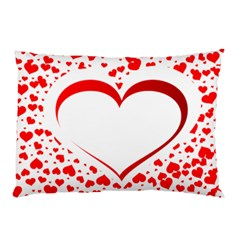 Love Red Hearth Pillow Case (two Sides) by Amaryn4rt