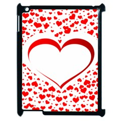 Love Red Hearth Apple Ipad 2 Case (black) by Amaryn4rt
