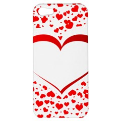 Love Red Hearth Apple Iphone 5 Hardshell Case by Amaryn4rt