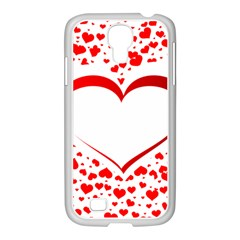 Love Red Hearth Samsung Galaxy S4 I9500/ I9505 Case (white)