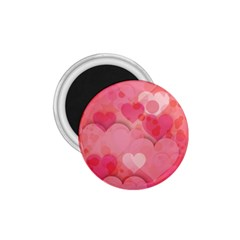 Hearts Pink Background 1 75  Magnets