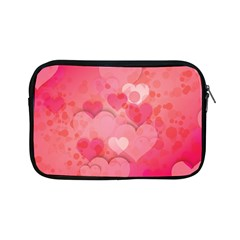 Hearts Pink Background Apple Ipad Mini Zipper Cases by Amaryn4rt