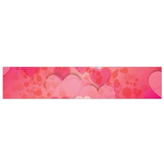 Hearts Pink Background Flano Scarf (small) by Amaryn4rt